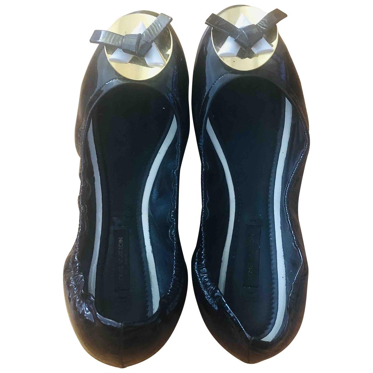 Louis Vuitton - Ballerines   pour femme en cuir verni - noir