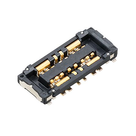 Panasonic , B02 0.8mm Pitch 8 Way 2 Row PCB Socket, Surface Mount, Solder Termination (500)