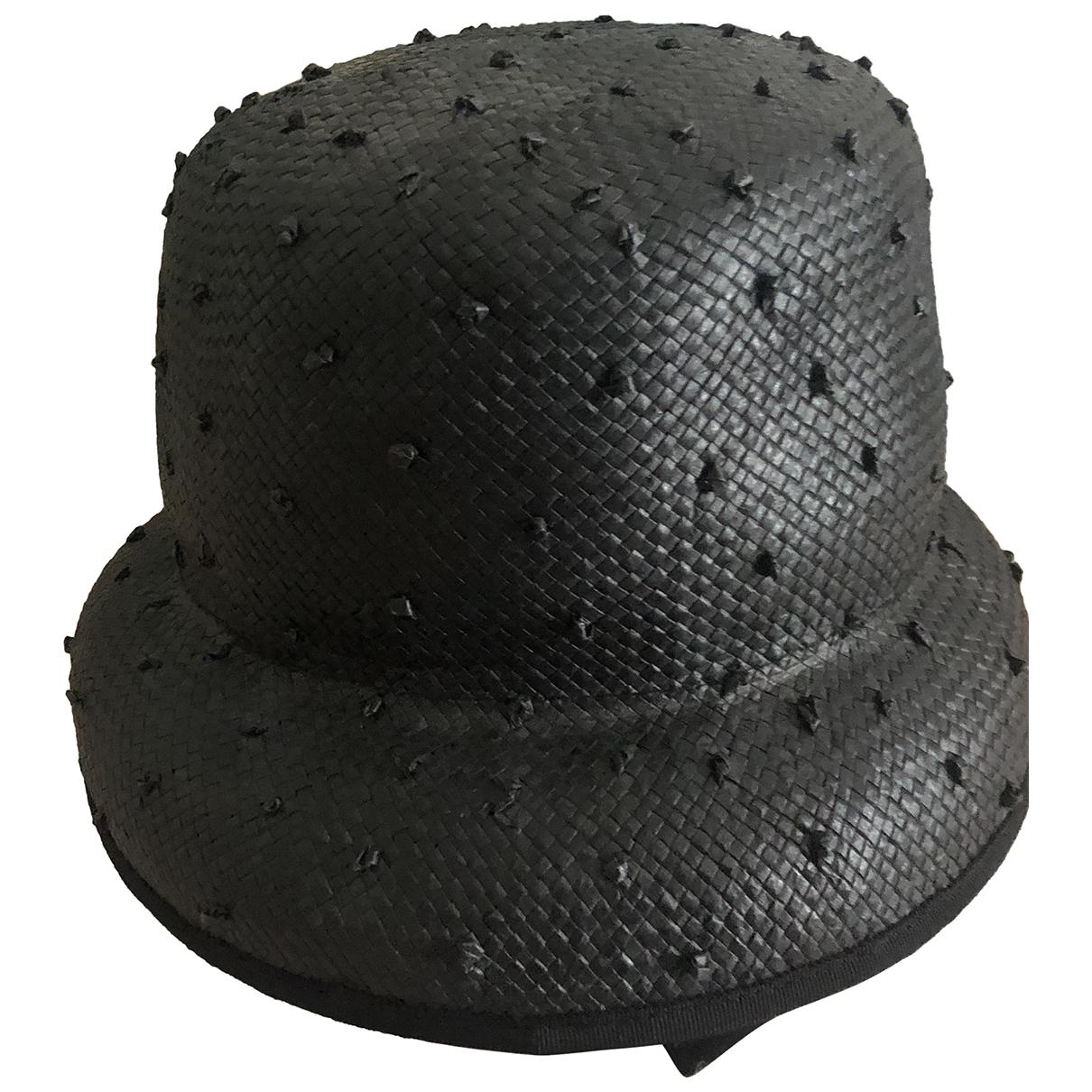 - Chapeau   pour femme en paille - noir