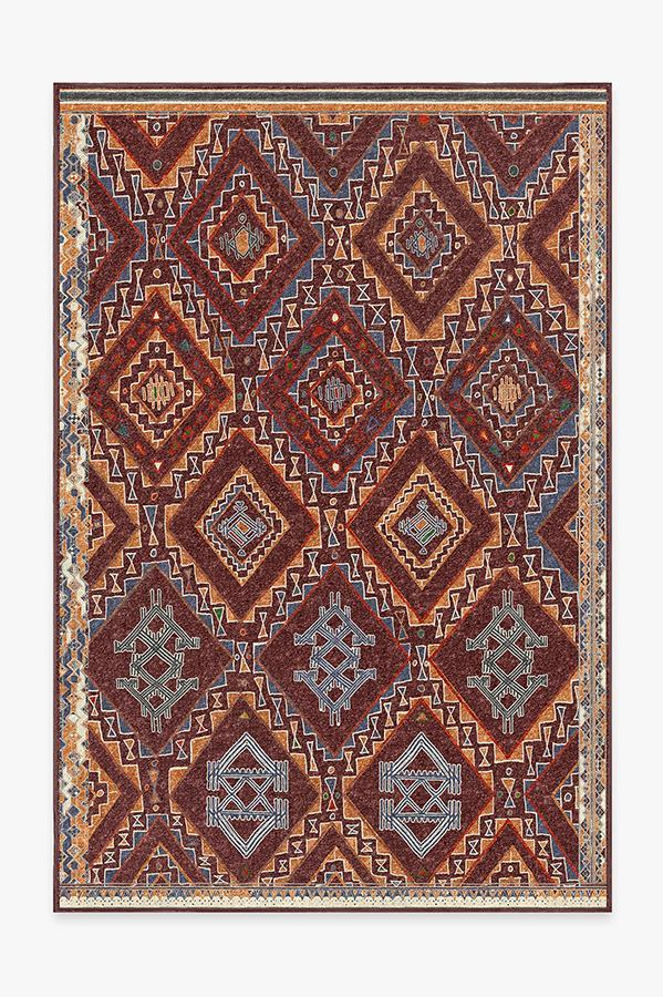 Washable Rug Cover & Pad | Lunja Plum Rug | Stain-Resistant | Ruggable | 6x9