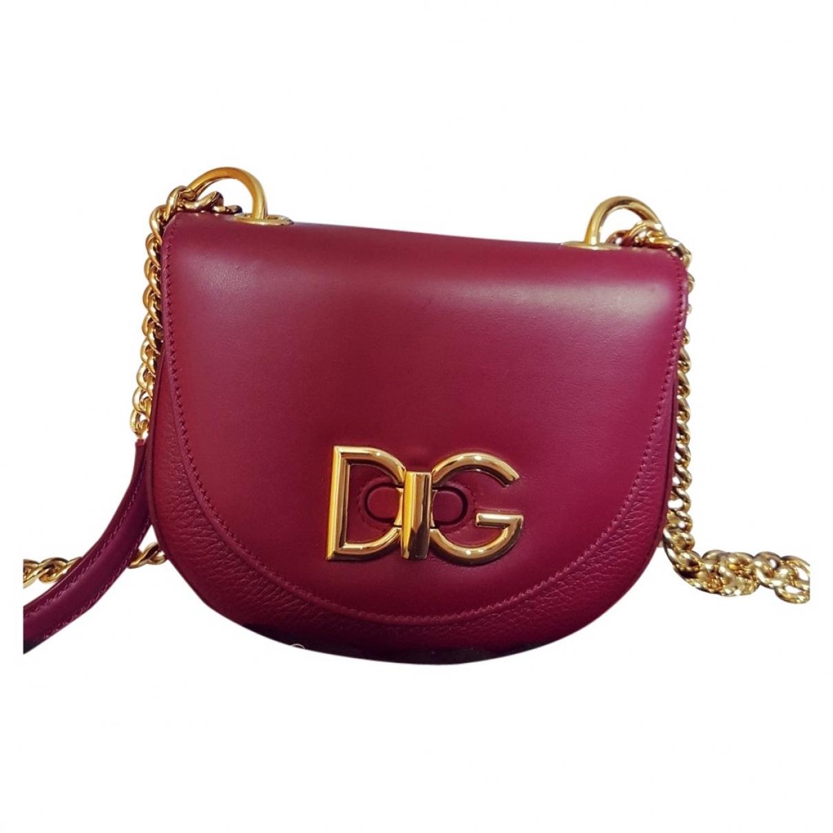 Dolce & Gabbana - Sac a main Wifi pour femme en cuir - bordeaux