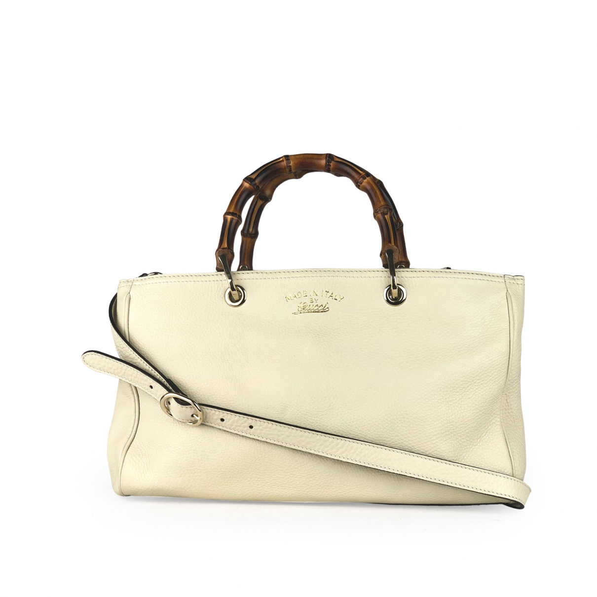 Gucci Bamboo White Leather handbag for Women \N