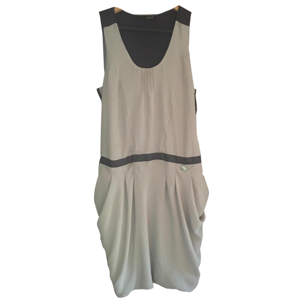 Liu.jo \N Kleid in  Ecru Polyester