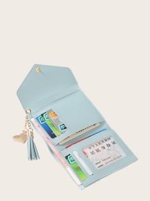 Tassel Decor Fold Over Wallet