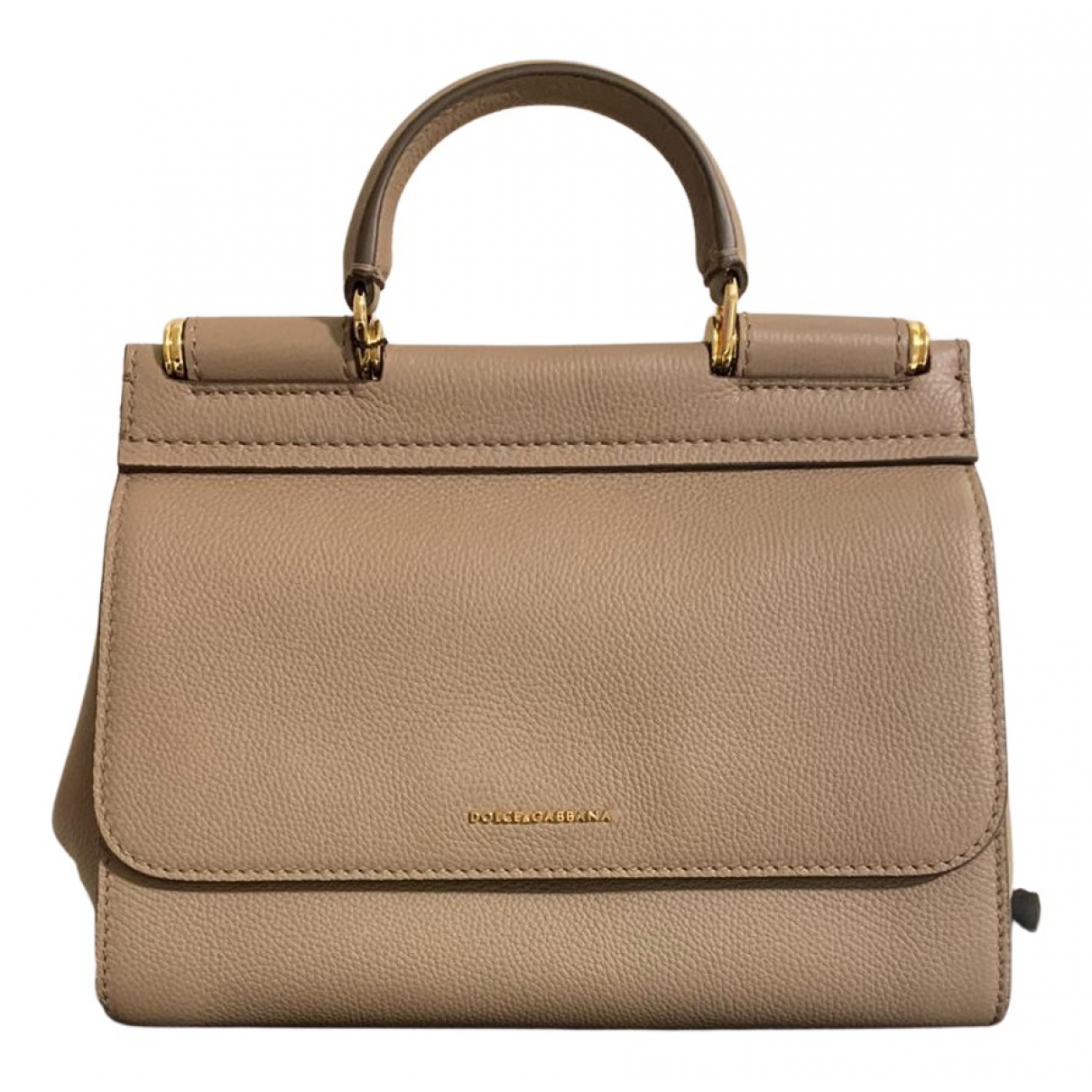 Dolce & Gabbana Sicily Beige Leather handbag for Women N