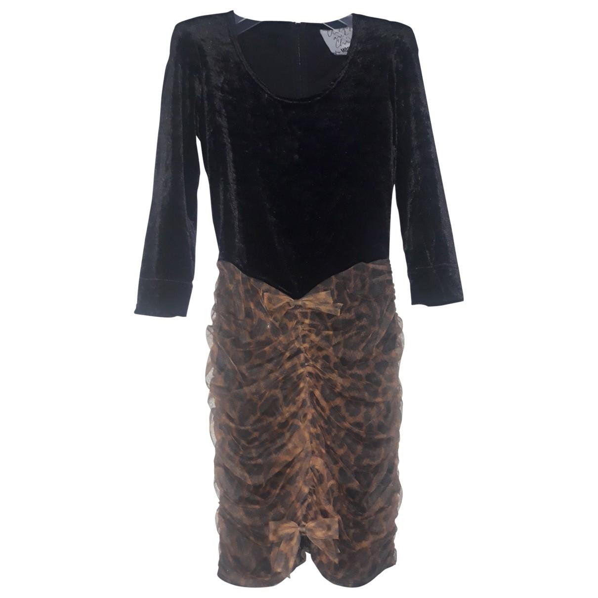 Moschino Cheap And Chic \N Kleid in  Schwarz Samt