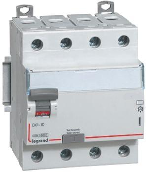 Legrand 3 + N 63 A RCD Switch, Trip Sensitivity 30mA