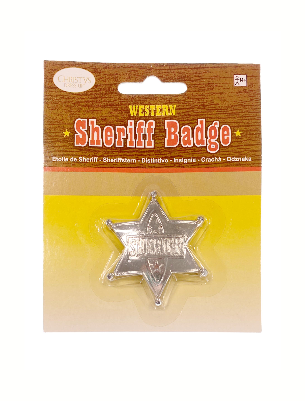 Kostuemzubehor Sheriffstern silber