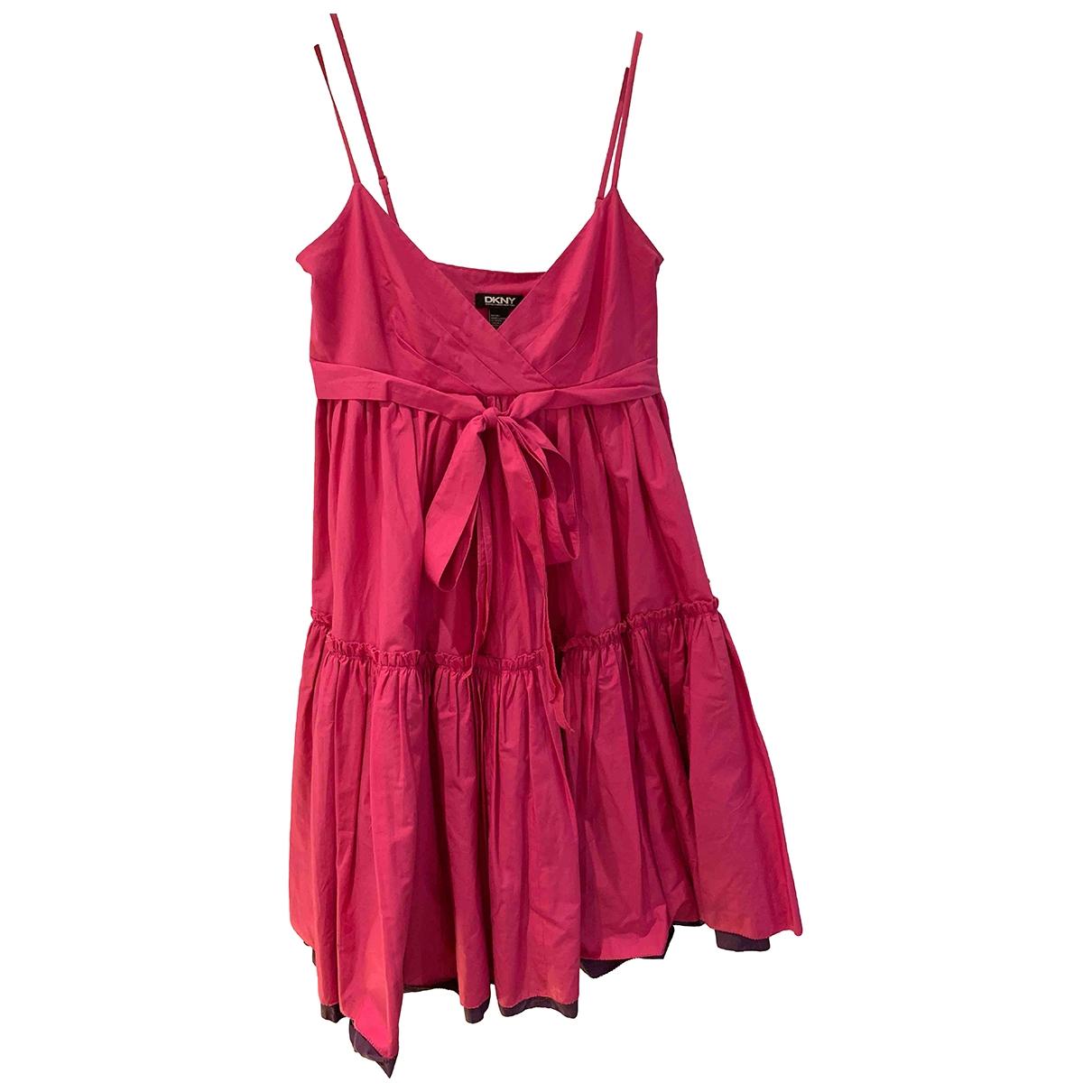 Dkny \N Kleid in  Rosa Baumwolle