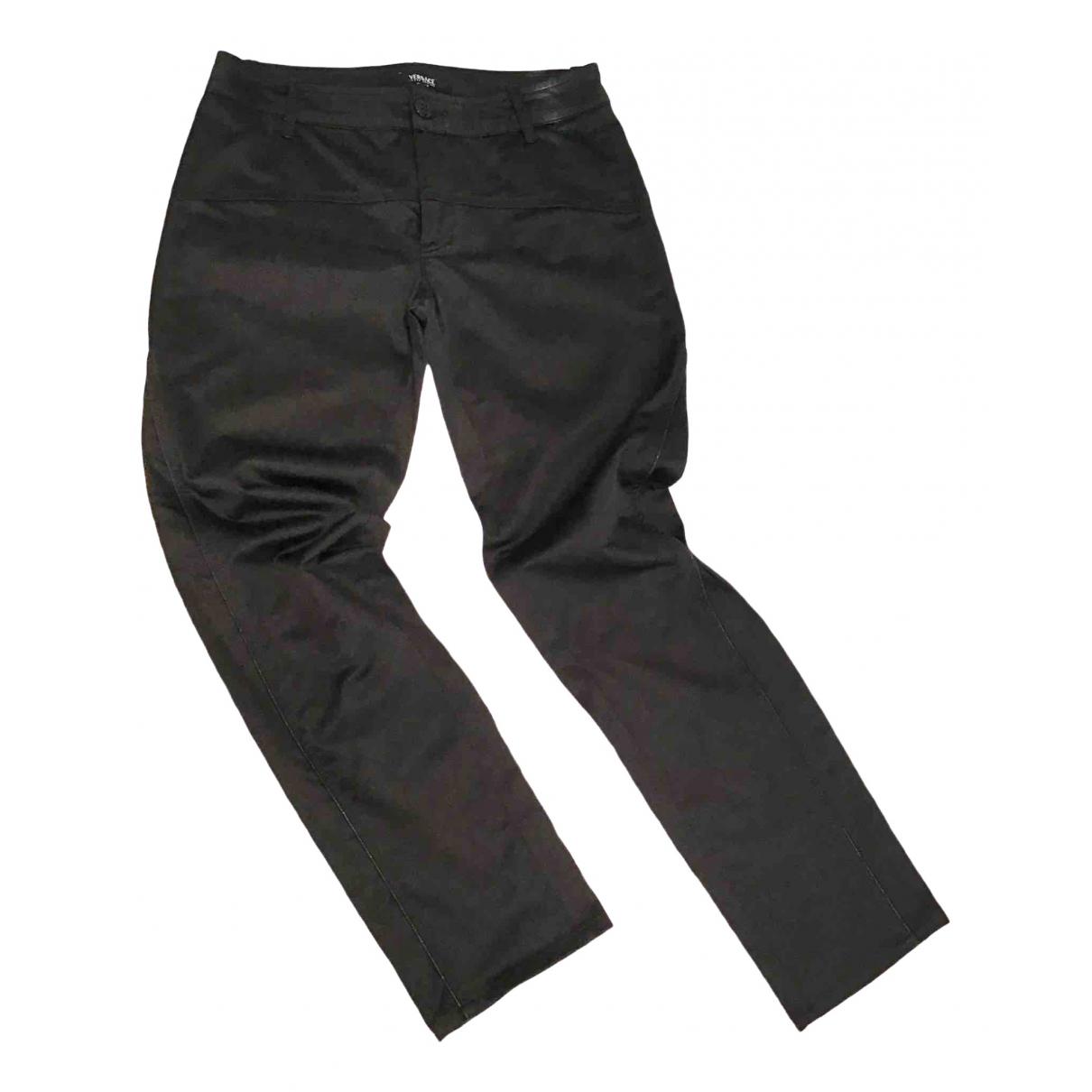 Versace Jeans \N Black Cotton Trousers for Women S International