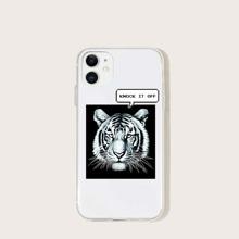 1pc Tiger Pattern iPhone Case