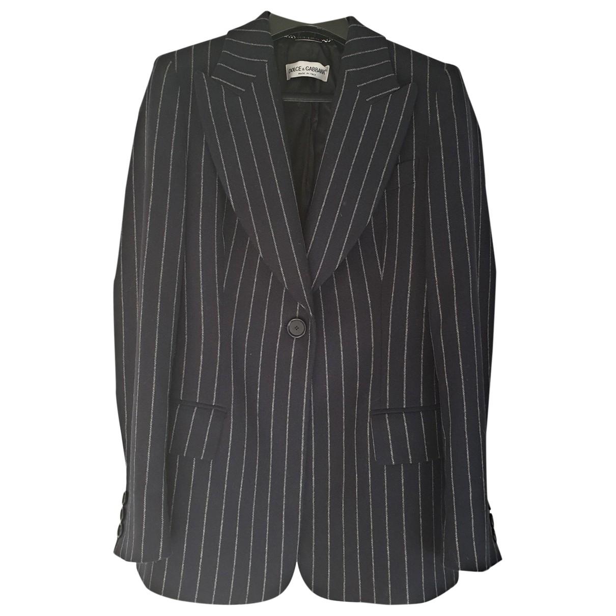 Dolce & Gabbana \N Blue Wool jacket for Women 40 IT