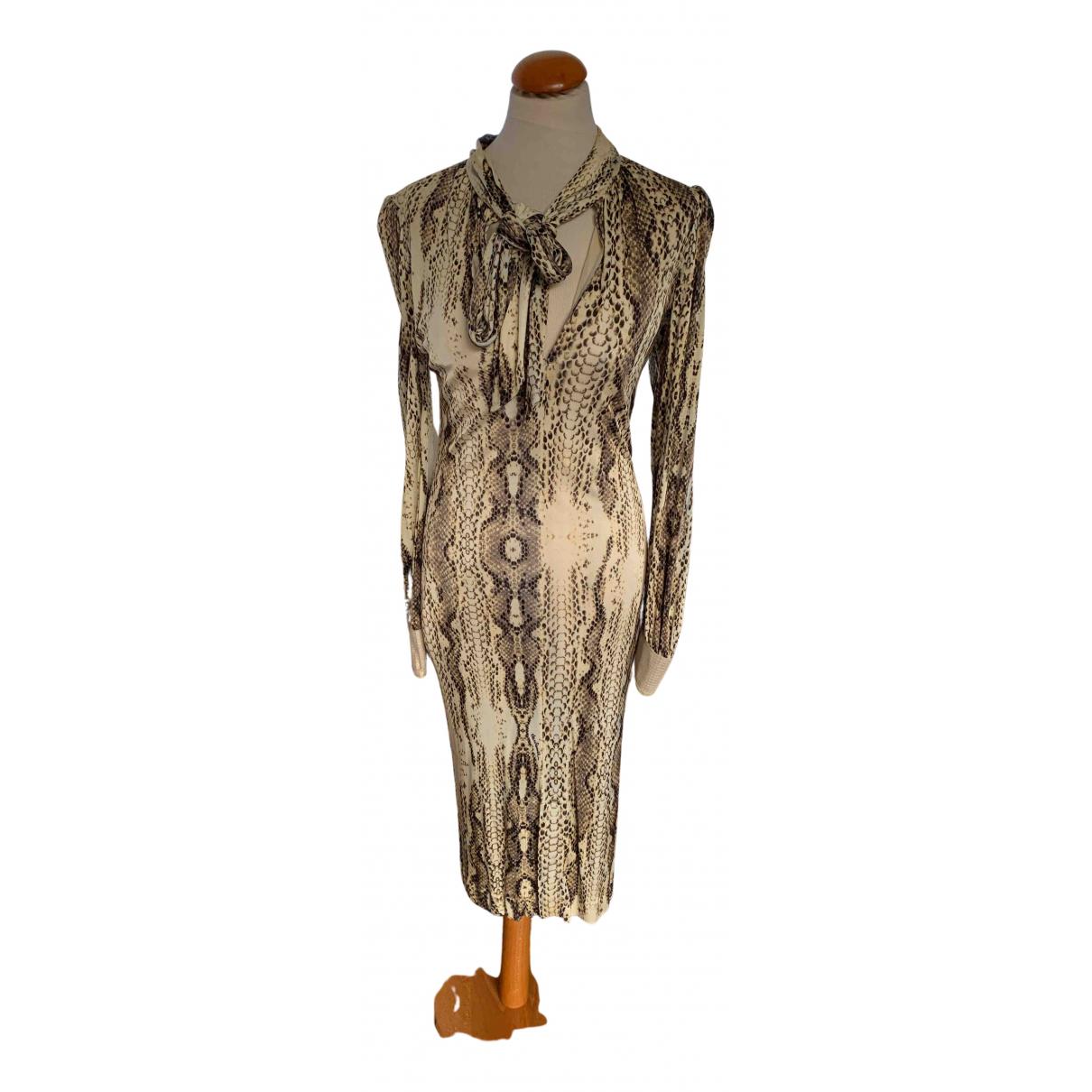 Roberto Cavalli \N Kleid in  Gold Viskose