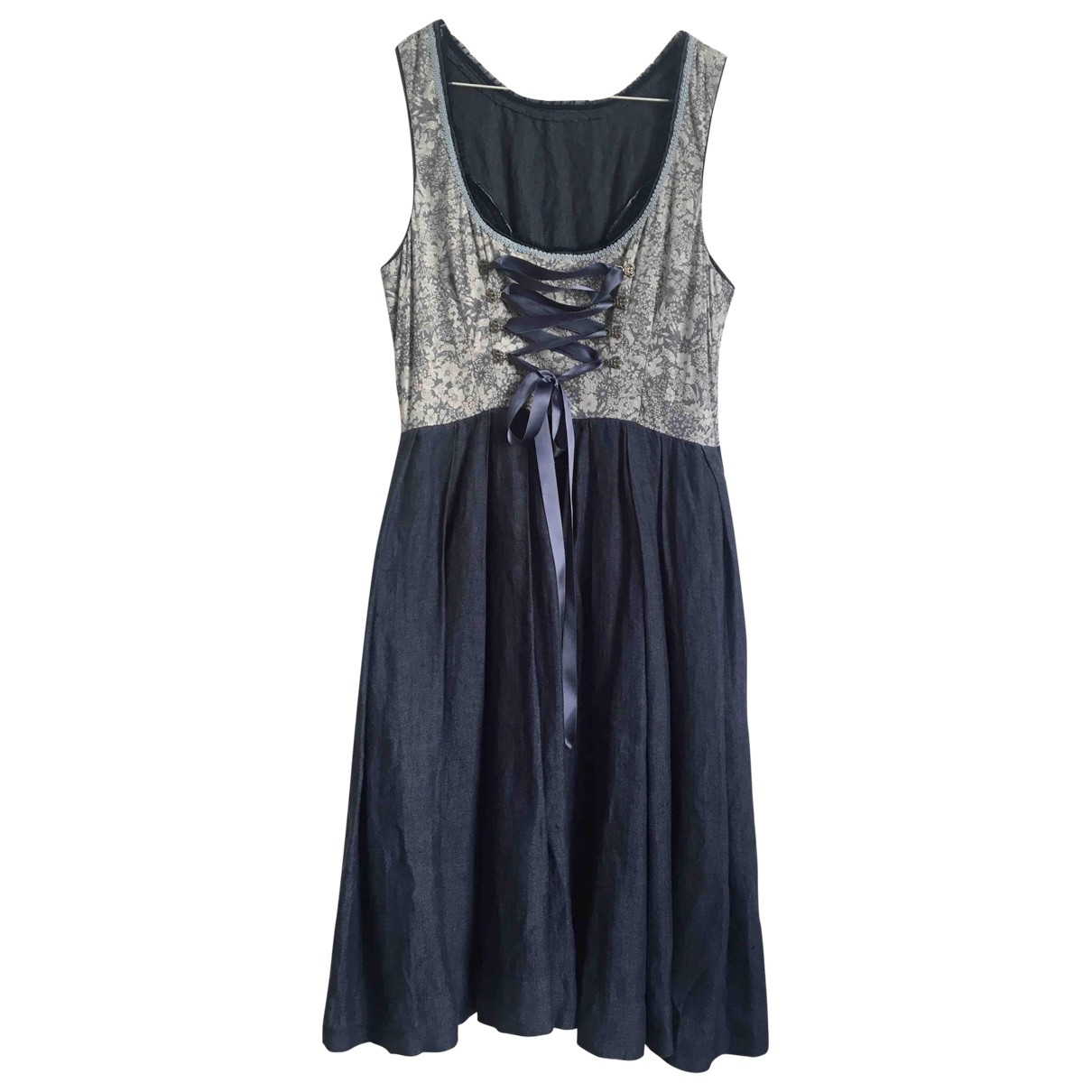 Non Signé / Unsigned \N Blue Cotton - elasthane dress for Women M International
