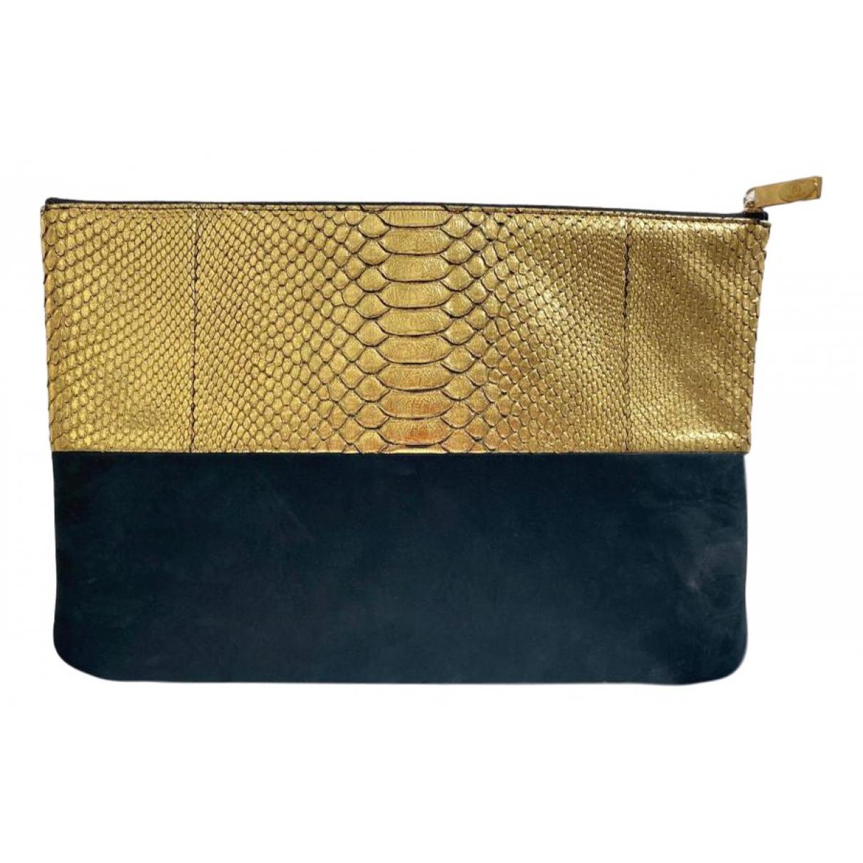 Chanel \N Black Python Clutch bag for Women \N