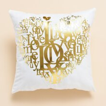 Letter Graphic Cushion Cover Without Filler