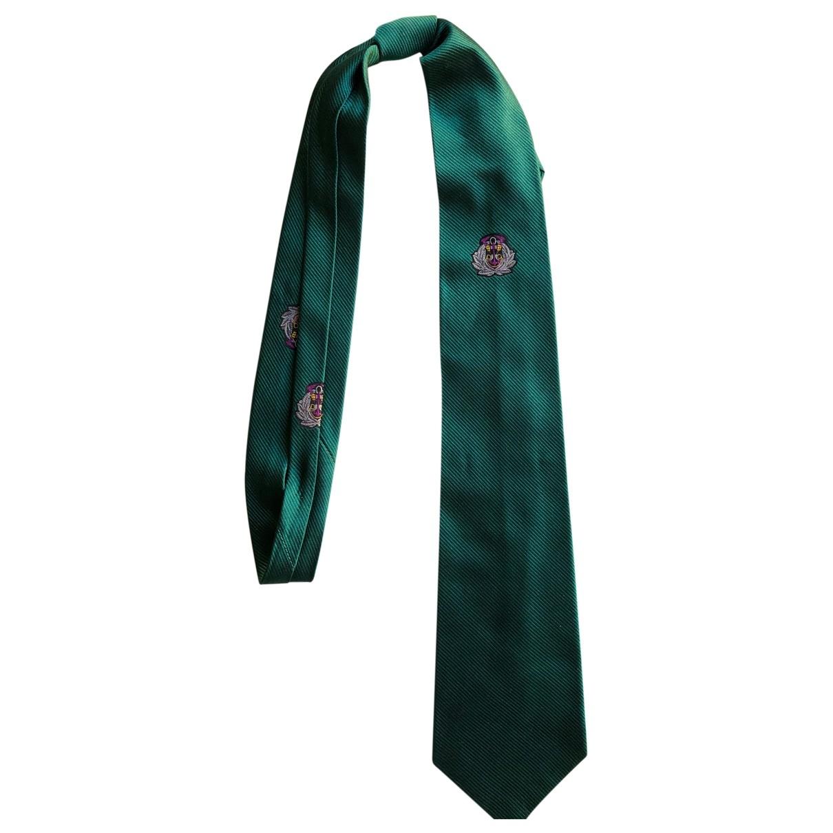 Trussardi \N Krawatten in  Gruen Seide