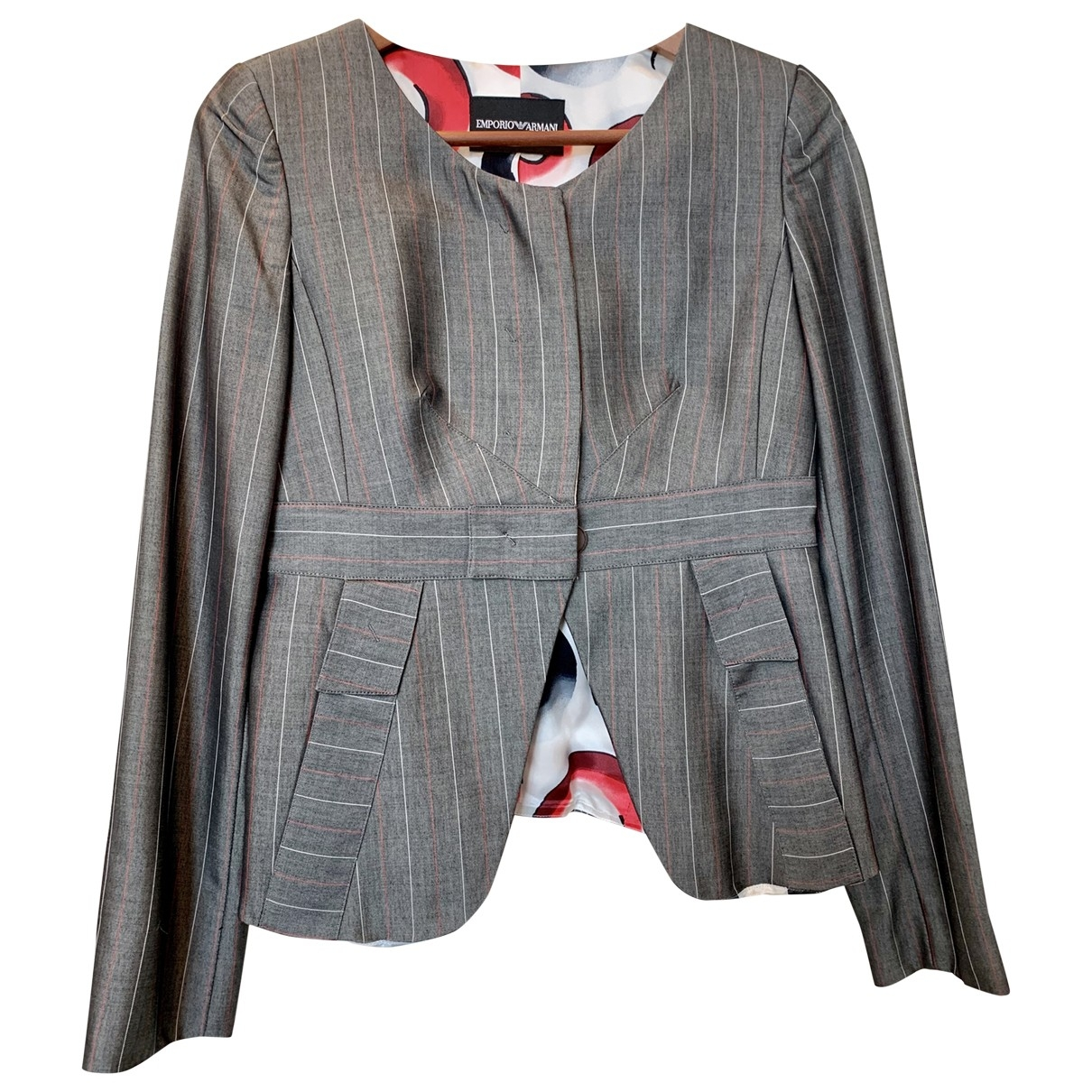 Emporio Armani \N Grey jacket for Women 40 IT