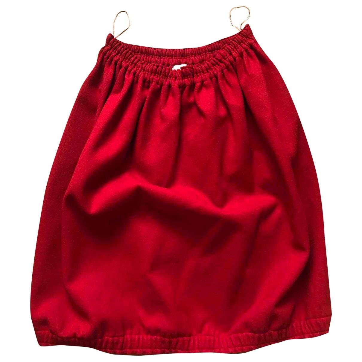 Chloe - Jupe   pour femme en laine - rouge
