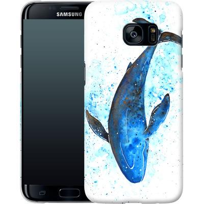 Samsung Galaxy S7 Edge Smartphone Huelle - Whale Dive von Becky Starsmore