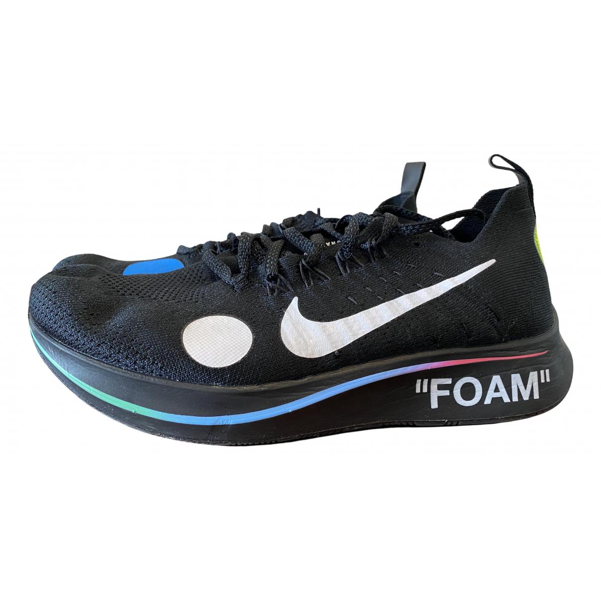 Nike X Off-white Zoom Fly Mercurial Sneakers in  Schwarz Leinen