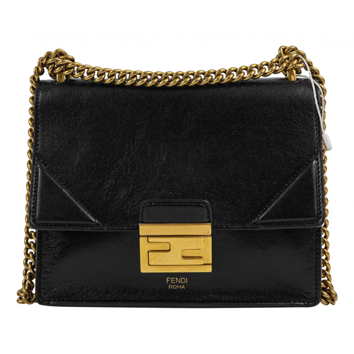 Fendi Kan U Black Leather handbag for Women \N