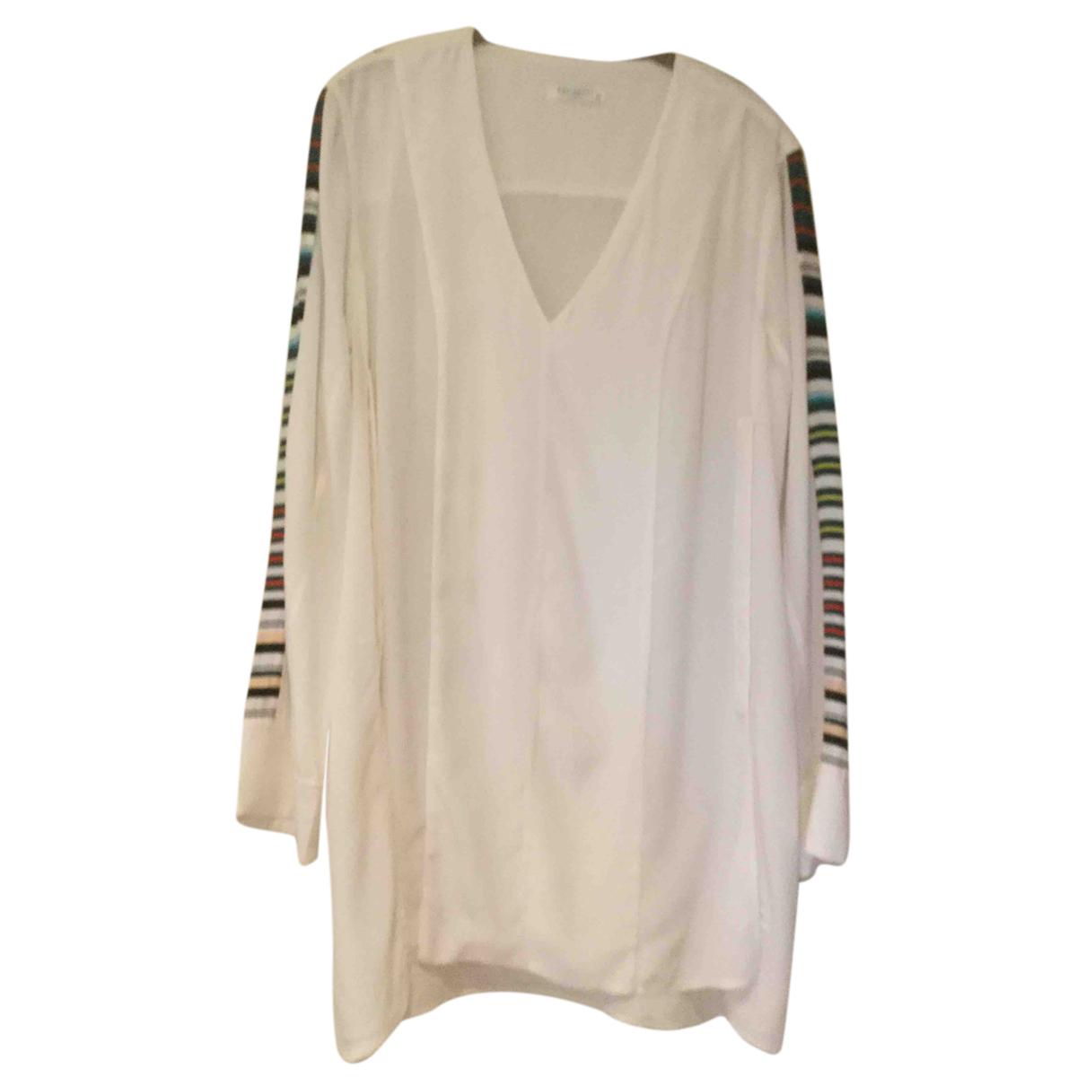 Equipment - Top   pour femme en soie - blanc