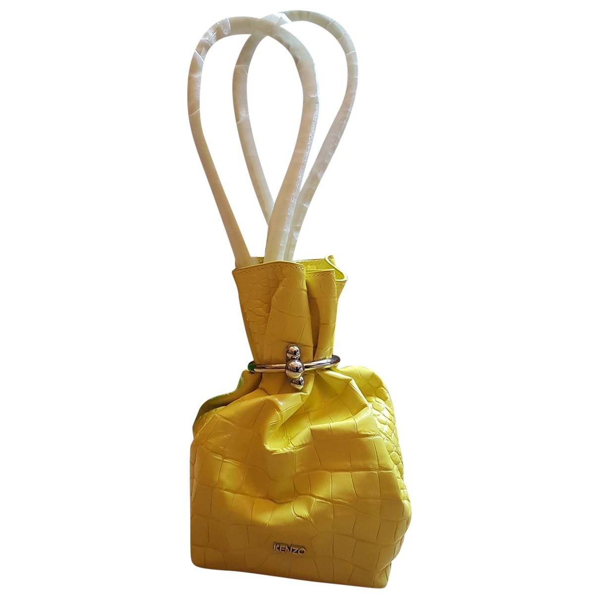 Kenzo \N Handtasche in  Gelb Lackleder