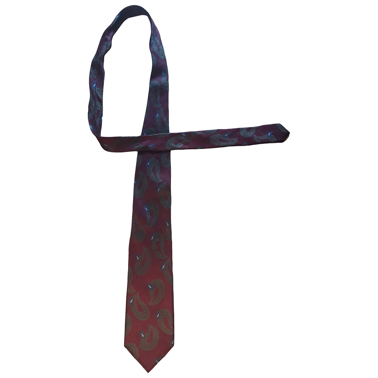 Ermenegildo Zegna - Cravates   pour homme en soie - bordeaux