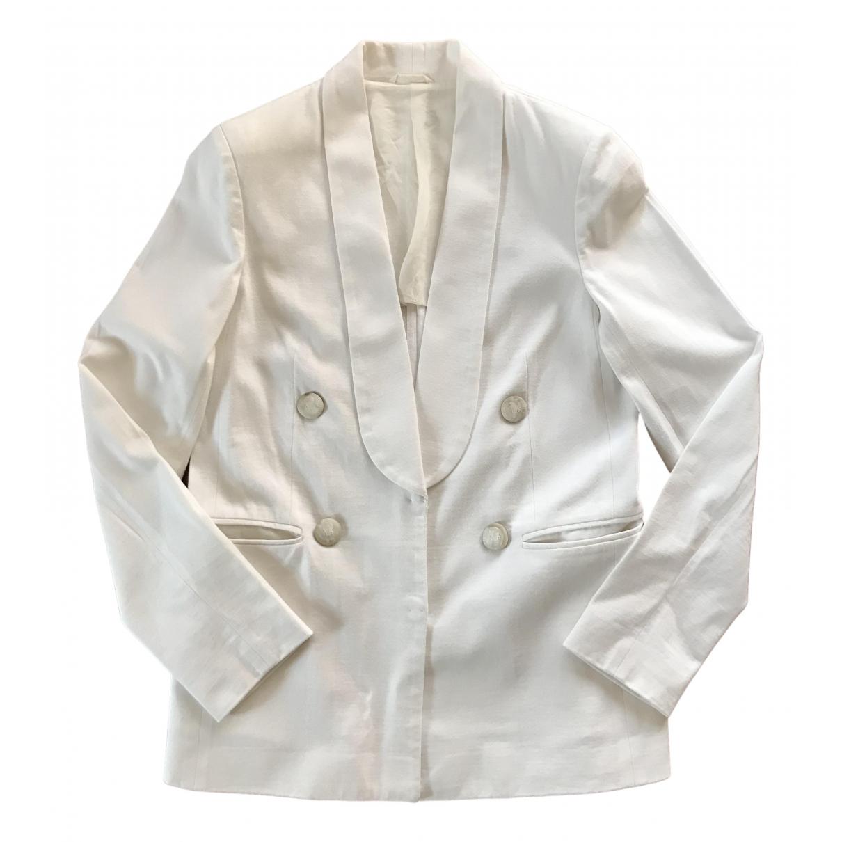 Brunello Cucinelli - Veste   pour femme en coton - blanc