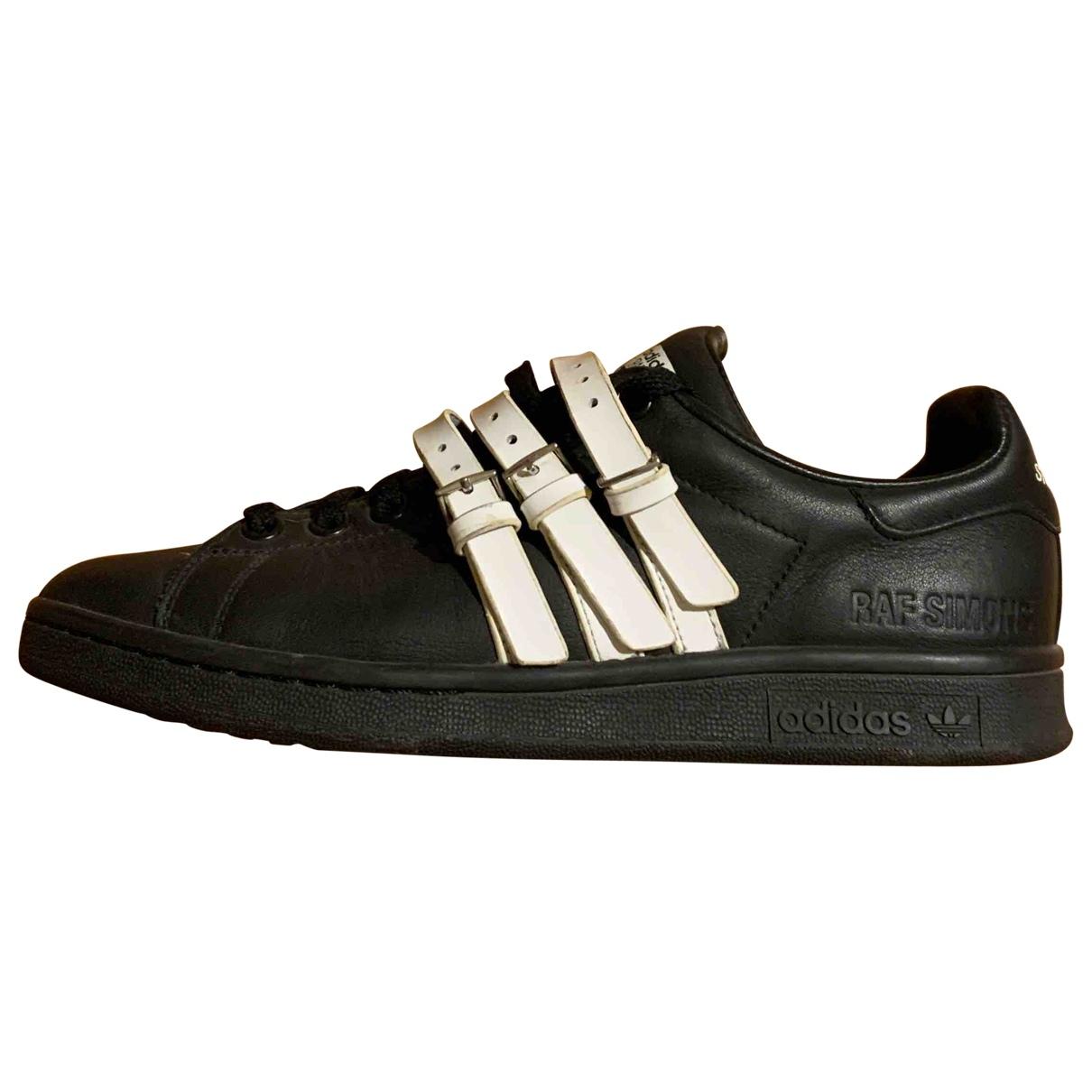 Adidas X Raf Simons - Baskets Stan Smith pour femme en cuir - noir