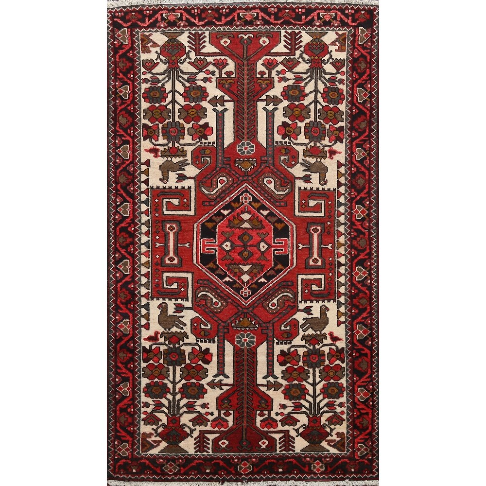 Clearance Vintage Tribal Hamedan Persian Area Rug Wool Hand-knotted - 4'1