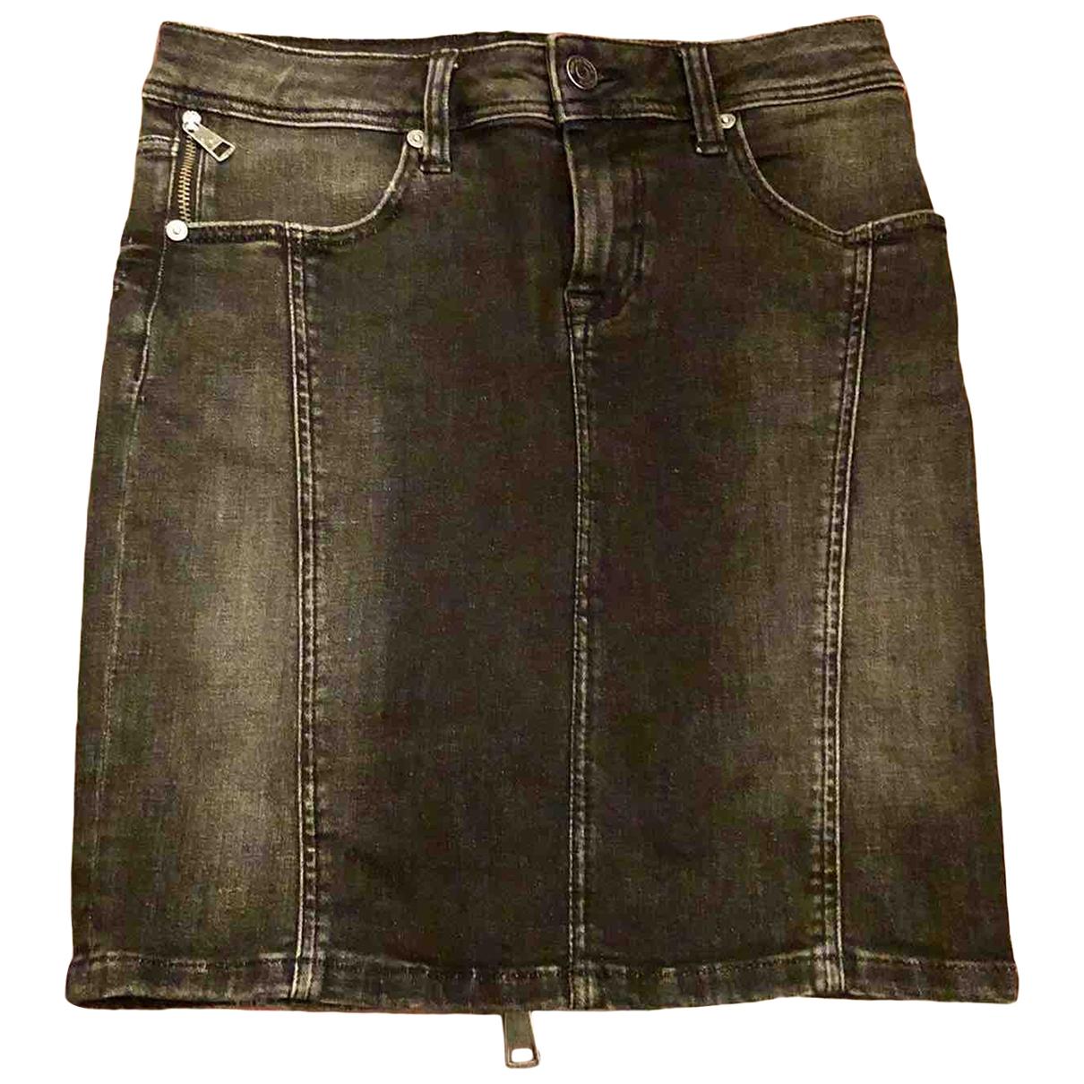 Burberry - Jupe   pour femme en denim - noir