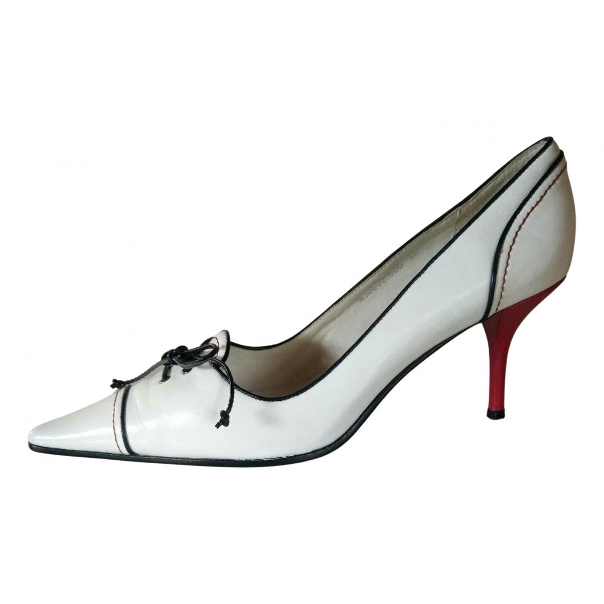 Mila Schon Concept - Escarpins   pour femme en cuir - blanc