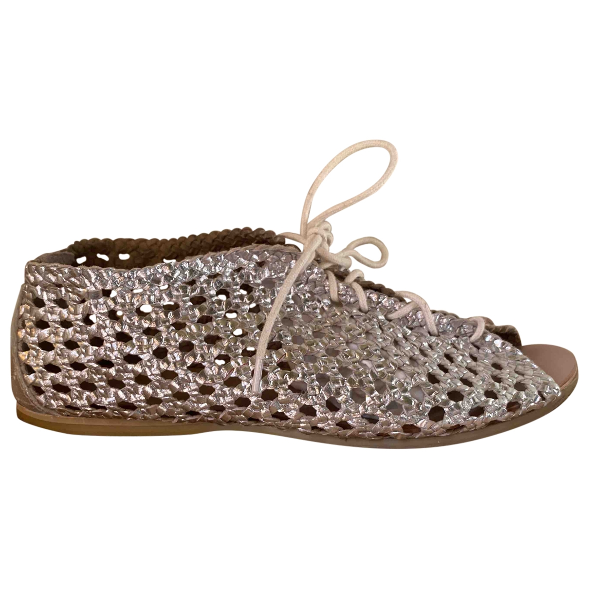 Non Signé / Unsigned \N Silver Leather Sandals for Women 36 EU