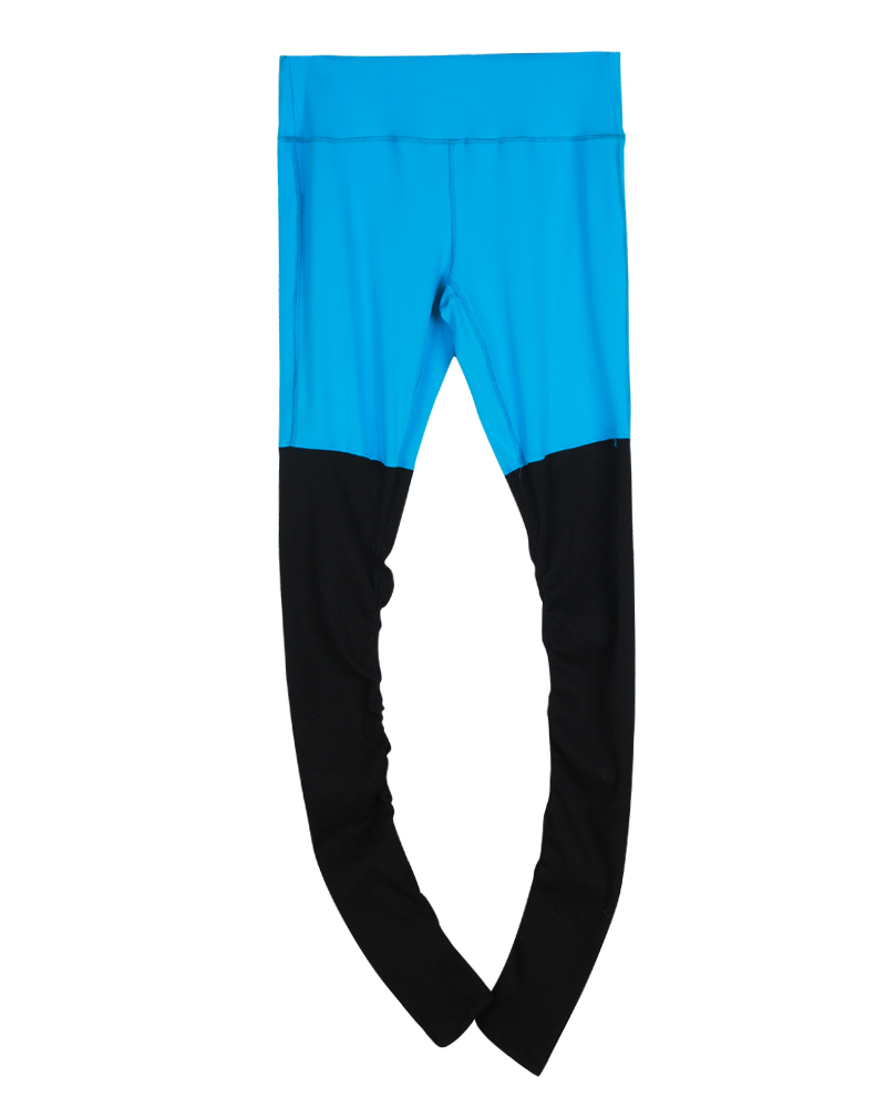 Skinny Model Nylon Material Color Matching Style Moderate Elasticity Sport Pants