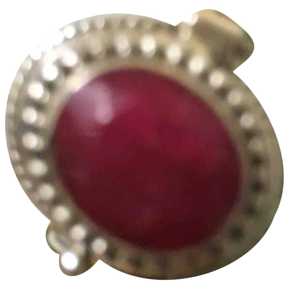 - Bague Rubis pour femme en argent - rouge
