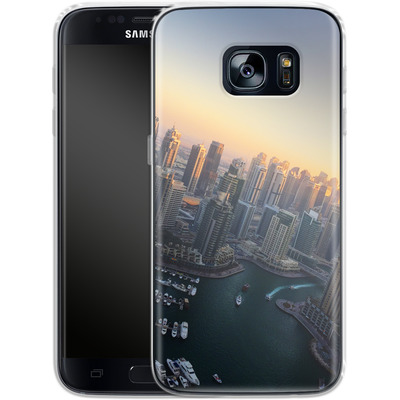 Samsung Galaxy S7 Silikon Handyhuelle - Dubai Skyline von Omid Scheybani