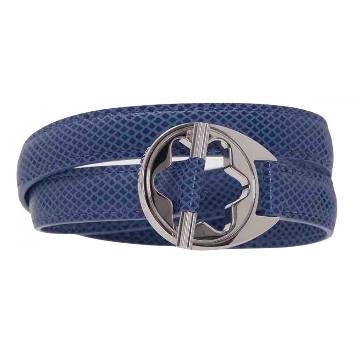 Montblanc \N Armband in  Blau Leder