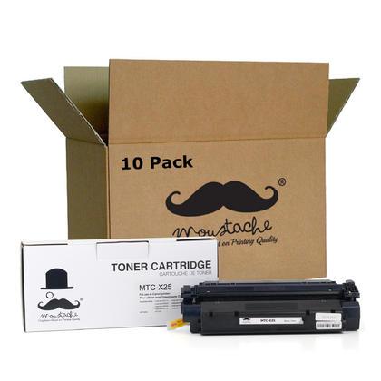 Compatible Canon X25 cartouche de toner noire - Moustache - 10/paquet