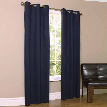 Weathermate Energy Saving Blackout Grommet-Top Set of 2 Curtain Panel, One Size , Blue