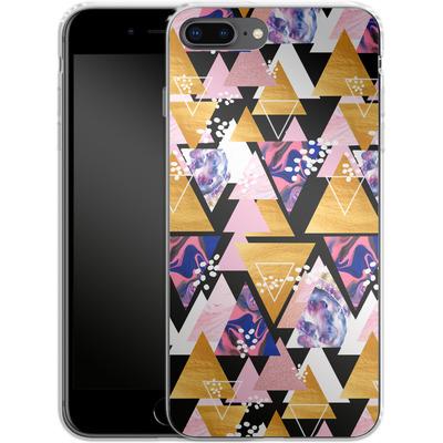 Apple iPhone 8 Plus Silikon Handyhuelle - Blush Geo Black von Mukta Lata Barua
