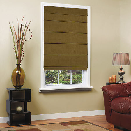 Home Expressions Textured Cordless Room Darkening Roman Shade, One Size , Brown