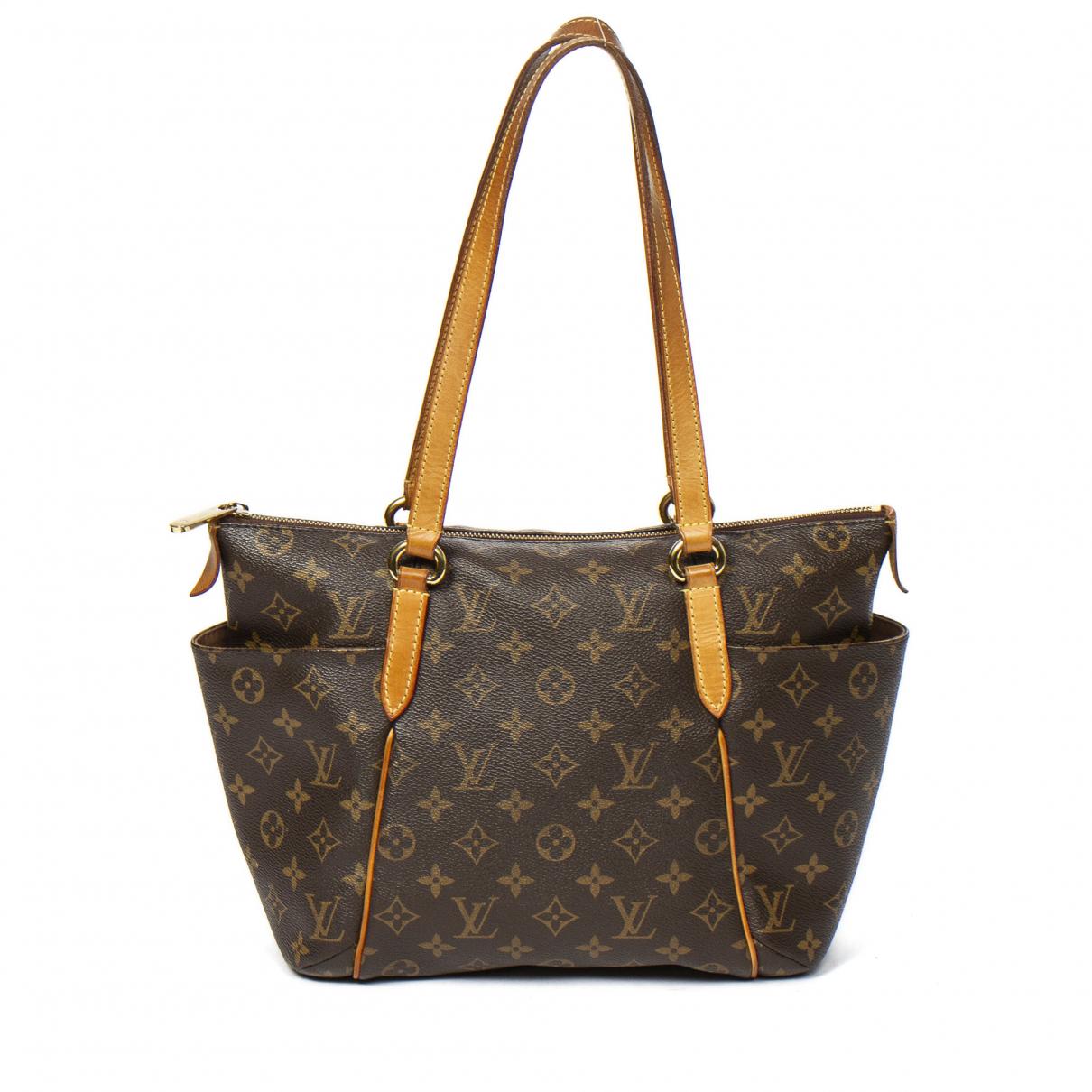 Louis Vuitton - Sac a main Totally pour femme en coton - marron