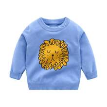 Toddler Boys Cartoon Pattern Sweater