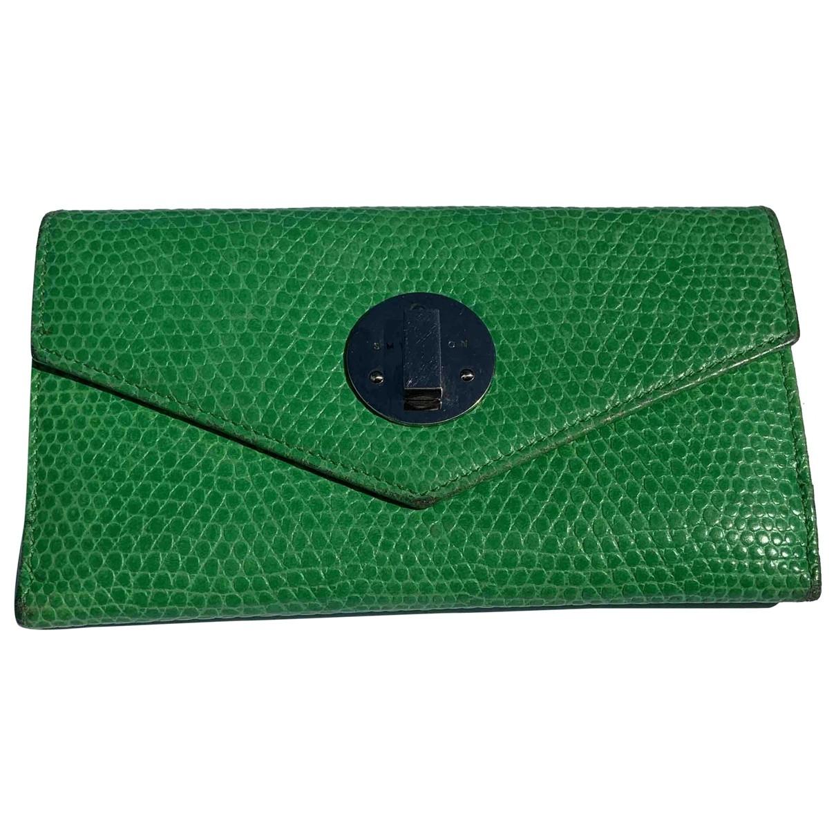 Smythson \N Portemonnaie in  Gruen Leder