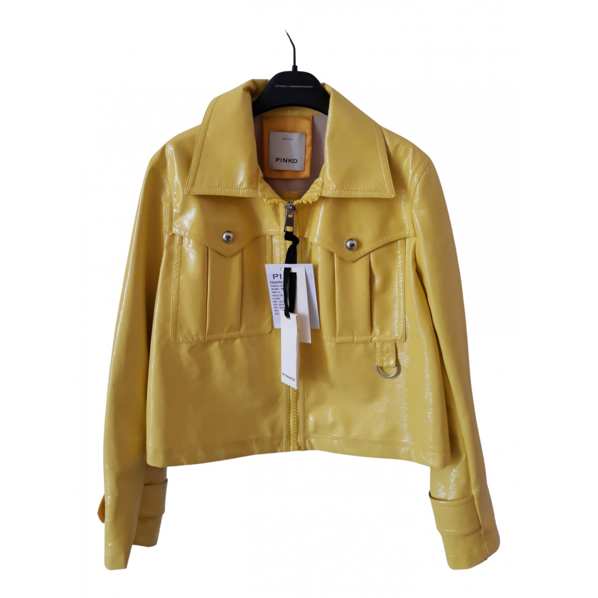 Pinko N Yellow jacket for Women 40 IT