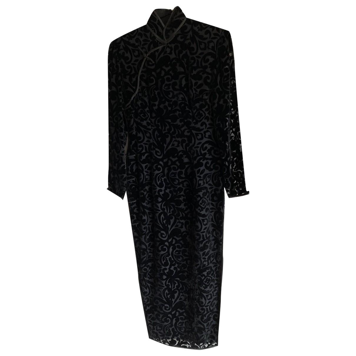 Non Signé / Unsigned \N Black Velvet dress for Women S International