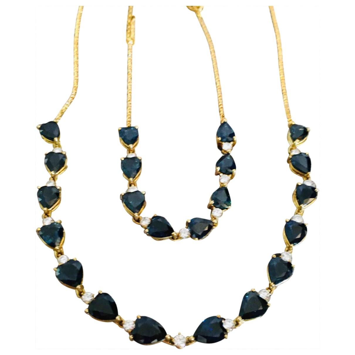 Collar Saphir de Oro amarillo Non Signe / Unsigned