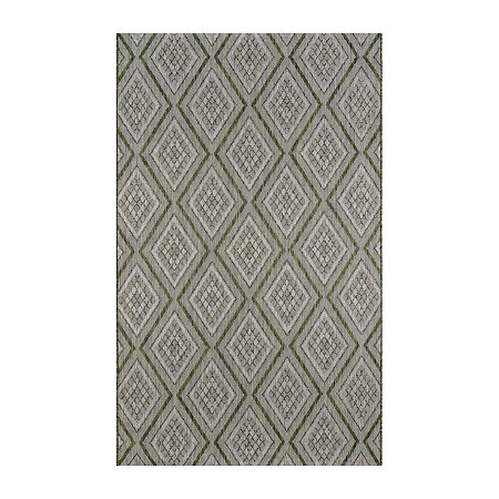 Madcap Cottage By Momeni Lake Palace Rectangular Indoor/Outdoor Rugs, One Size , Green